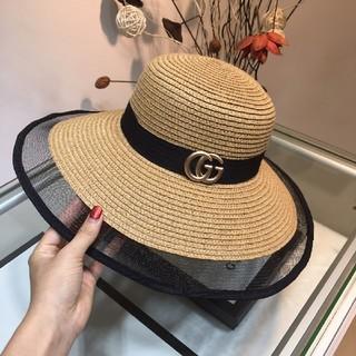 グッチ(Gucci)のグッチ帽子綺麗可愛い麦わら帽子(麦わら帽子/ストローハット)