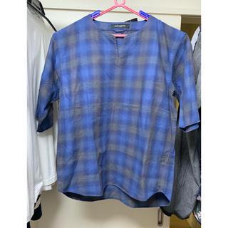 ナノユニバース(nano・universe)のナノユニバース プルオーバーチェックシャツ  メンズ(Tシャツ/カットソー(半袖/袖なし))