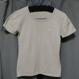 クレイサス(CLATHAS)のクレイサス トップス CLATHAS 半袖ニット ベージュ(カットソー(半袖/袖なし))