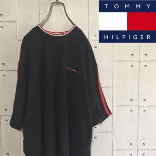 TOMMY HILFIGER - ビックサイズ トミーヒルフィガー ワンポイントロゴ刺繍 Tシャツ