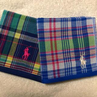 ラルフローレン(Ralph Lauren)の新品未使用 ラルフローレンタオルチーフ2枚セット(ハンカチ/ポケットチーフ)