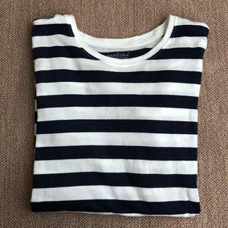 MUJI (無印良品) - 無印*ボーダーTシャツ(長袖)