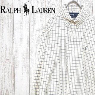 ラルフローレン(Ralph Lauren)の【定番】ラルフローレン ボタンダウンシャツ チェック柄 ラルフシャツ 刺繍ロゴ(シャツ)