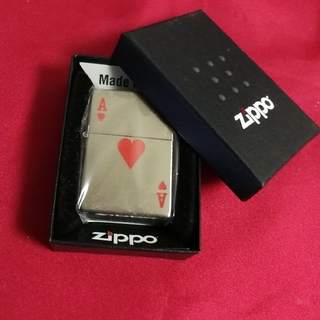 ジッポー(ZIPPO)のZippoハートトランプ柄 ジッポー 幸運 恋愛運 金運  パワー(タバコグッズ)