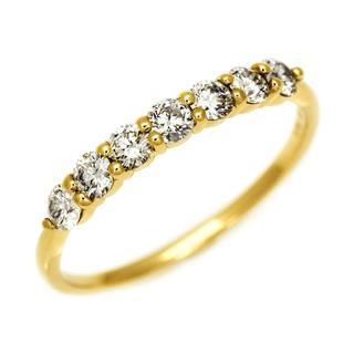 まばゆい輝き! 0.4ct ダイヤモンド 18金 リング 9号(リング(指輪))