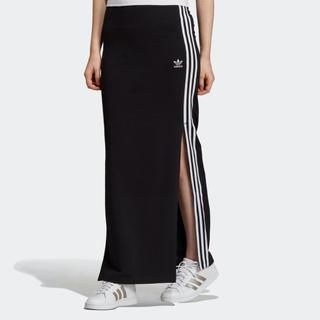 アディダス(adidas)のアディダスオリジナルス ロングスカート スリット タイト ブラック(ロングスカート)