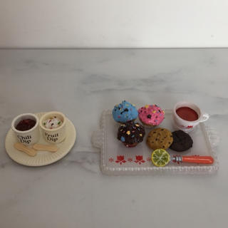 ミニチュア フィギュア カフェセット 2点セット カップケーキ クッキー