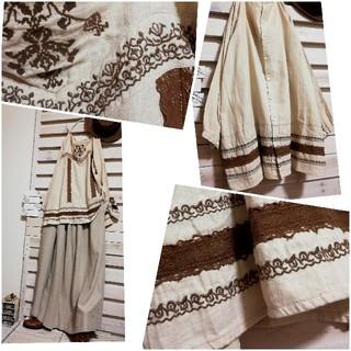 サマンサモスモス(SM2)のSm2 サマンサモスモス/コットンリネンx刺繍が素敵なチュニック  sizeM(チュニック)
