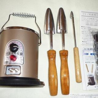 未使用品 タキイ和裁電化こて 和裁コテ タキイ製箱付 未使用鏝2本+ミニ鏝付(アイロン)