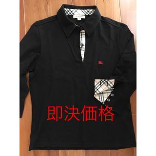 バーバリー(BURBERRY)のバーバリー ロンドン ホースマークとノバチェック 七分袖ポロシャツ 美品(カットソー(長袖/七分))