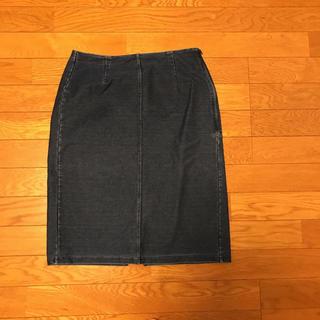 ジーユー(GU)のGU デニムタイトスカート L(ひざ丈スカート)