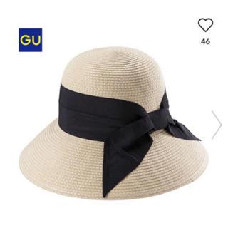 ジーユー(GU)のGU つば広 麦わら帽子 ストローハット(麦わら帽子/ストローハット)