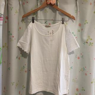 サマンサモスモス(SM2)の6/20まで サマンサモスモス 新品 スカラップ 半袖カットソー Tシャツ(Tシャツ(半袖/袖なし))