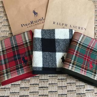 ラルフローレン(Ralph Lauren)の新品●袋付 ラルフローレンのタオルハンカチ(ハンカチ/ポケットチーフ)