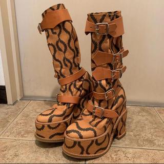 ヴィヴィアンウエストウッド(Vivienne Westwood)のVivienne Westwood スクイグルパイレークブーツ(ブーツ)