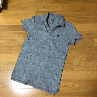 アメリカンイーグル(American Eagle)のアメリカンイーグル メンズ ポロシャツ グレー XS(ポロシャツ)