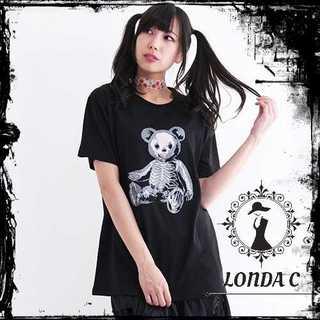 ファンキーフルーツ(FUNKY FRUIT)の Drug honey ドラハニ ドラッグハニー スケルトンテディ 黒Tシャツ(Tシャツ(半袖/袖なし))