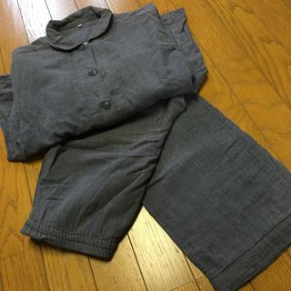 MUJI (無印良品) - 無印良品 ガーゼパジャマ Sサイズ ネイビー