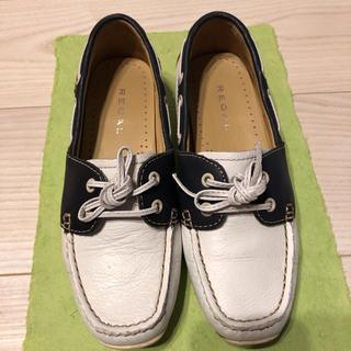 リーガル(REGAL)のREGALデッキシューズ22cm(ローファー/革靴)