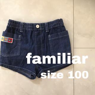 ファミリア(familiar)のfamiliar デニム ショートパンツ 100(パンツ/スパッツ)