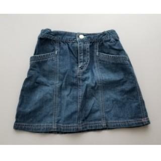 ユニクロ(UNIQLO)のキッズ 女の子 デニムスカート 120(スカート)