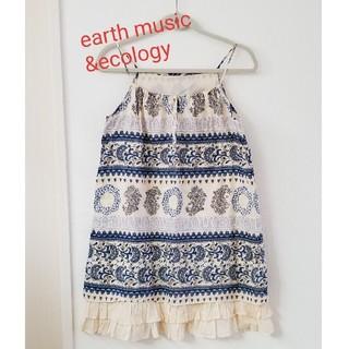 アースミュージックアンドエコロジー(earth music & ecology)のearth music & ecology ワンピース(ひざ丈ワンピース)