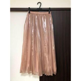 バビロン(BABYLONE)のBシャンブレープリーツスカート BABYLONE 2019SS ピンク 38(ロングスカート)