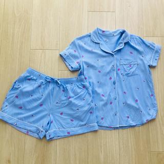 GU - GU アイス柄パジャマ ルームウェア ライトブルー 上下セット