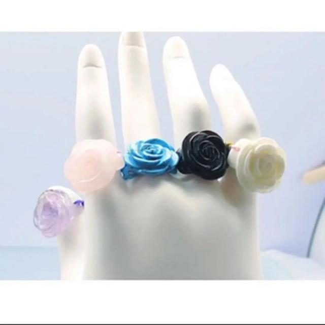 天然石リング ♡ 薔薇 レディースのアクセサリー(リング(指輪))の商品写真