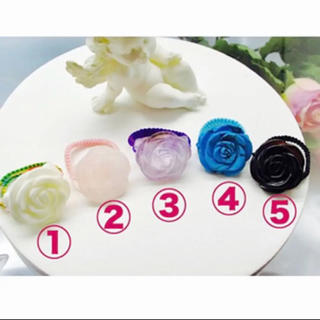 天然石リング ♡ 薔薇(リング(指輪))