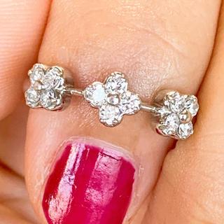 美品❗️0.24ct プラチナダイヤリング プラチナダイヤモンドリング(リング(指輪))