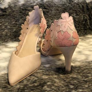 ランダ(RANDA)の【RANDA】パンプス/フラワー花/ピンク/くすみピンク/桜(ハイヒール/パンプス)