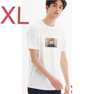GU - ★XL★ GU シャイニング グラフィックTシャツ  ホワイト