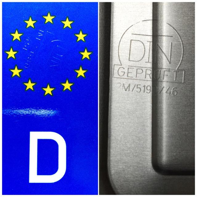 AUDI(アウディ)の★新品★ 「IN RS 6007」 1枚セット 本物ドイツユーロナンバープレート 自動車/バイクの自動車(車外アクセサリ)の商品写真