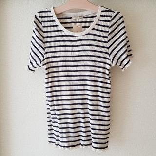 サマンサモスモス(SM2)のSM2☆ボーダーテレコTシャツ(Tシャツ(半袖/袖なし))