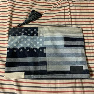 ロンハーマン(Ron Herman)のwtw デニム星条旗クラッチバッグ(セカンドバッグ/クラッチバッグ)
