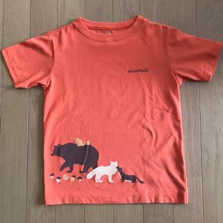 モンベル(mont bell)のモンベル★動物柄クイックロンTシャツ130オレンジ(Tシャツ/カットソー)