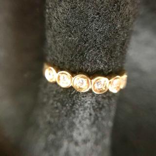 リング K18 ダイヤ付き (リング(指輪))