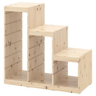 イケア(IKEA)の東京都江戸川区引取り限定 IKEA TROFAST イケア フレーム 階段型収納(棚/ラック/タンス)