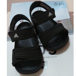 adidas - アディダス サンダル 黒 14㎝