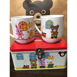 ミキハウス(mikihouse)のmikiHOUSE 缶入りペアマグカップ☆(グラス/カップ)