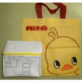 ニッシンショクヒン(日清食品)のひよこちゃん トートバッグ 百福の研究小屋 No.632(キャラクターグッズ)