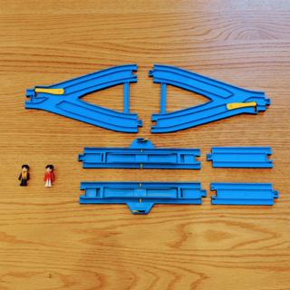 タカラトミー(Takara Tomy)の【ご予約】プラキッズ&プラレール セット(Y字ポイント・ストップ・1/2直線)(電車のおもちゃ/車)