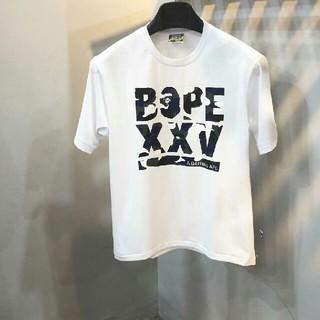 アベイシングエイプ(A BATHING APE)のBape ホワイト 短袖 (Tシャツ/カットソー(半袖/袖なし))