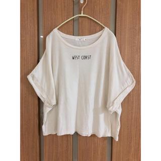 サマンサモスモス(SM2)のSM2 サマンサモスモス ドルマンTシャツ ナチュラル 刺繍 綿 麻(Tシャツ(半袖/袖なし))