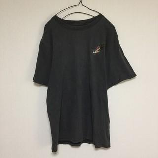 HOUSTON Tシャツ 和柄 刺繍 孔雀 桜 黒 ブラック スカジャン(Tシャツ/カットソー(半袖/袖なし))