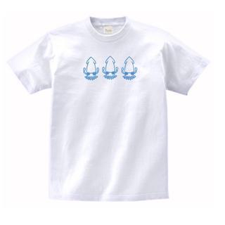 イカイカイカ 白 MLサイズ 747(Tシャツ/カットソー(半袖/袖なし))