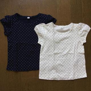 ムジルシリョウヒン(MUJI (無印良品))の無印良品 Tシャツ 80 女の子 未使用品 2枚組(Tシャツ)