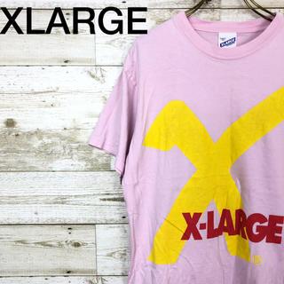 エクストララージ(XLARGE)のXLARGE(エクストララージ) ロゴ Tシャツ M ピンク ストリート 古着(Tシャツ/カットソー(半袖/袖なし))