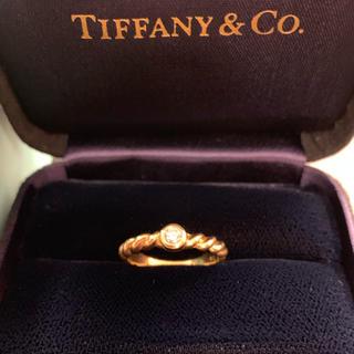 ティファニー(Tiffany & Co.)のほぼ未使用品★ティファニー★K18YG ダイヤリング 箱 12号(リング(指輪))